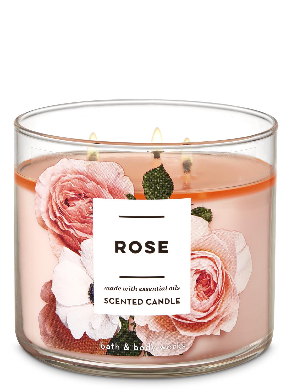 تسوق شمعة ثلاثية الفتيل Rose اونلاين باث بودي وركس السعودية